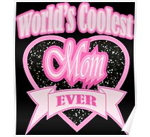 rock roll mother's day typography world's coolest mom Poster