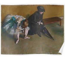 Edgar Degas - Waiting (1882) Poster