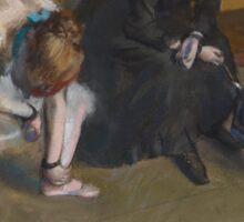Edgar Degas - Waiting (1882) Sticker