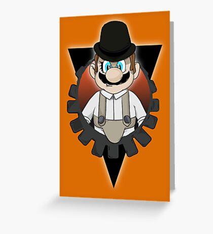 Clockwork Mario Greeting Card