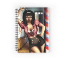 Pin Up Hairdresser Spiral Notebook