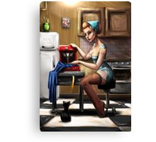 Pin Up Seamstress Canvas Print