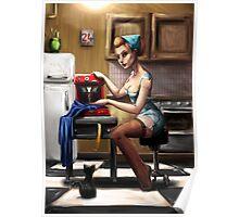 Pin Up Seamstress Poster