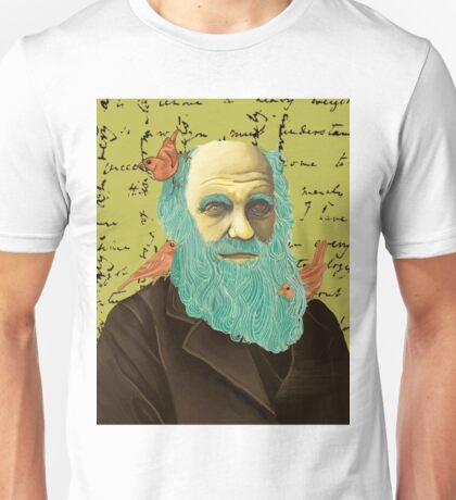 Charles Darwin and his Finches Unisex T-Shirt