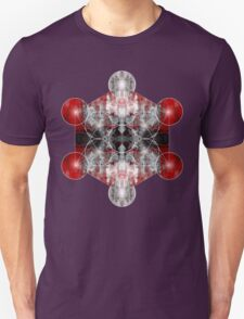 Metatron's Cube red Unisex T-Shirt