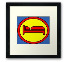 Hero, Heroine, Superhero, Super Tired Framed Print