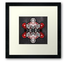 Metatron's Cube red Framed Print