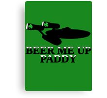 Funny Irish beer themed  Canvas Print