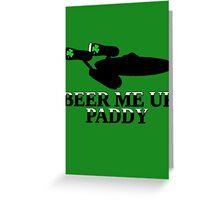 Funny Irish beer themed  Greeting Card