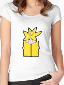 Reading Rainbow in Harmony - Yellow Women's Fitted Scoop T-Shirt