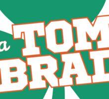 Kiss Me I'm A Tom Brady Fan - St. Patrick's Day Shamrock Sticker