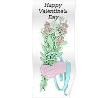 Gal/Valentine Bouquet (text)  Poster