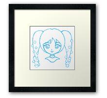 Cute Anime Girl - Pigtails Framed Print