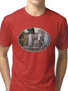 Raining up and down in Villa d'Este Tri-blend T-Shirt