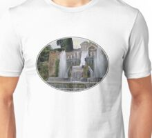 Raining up and down in Villa d'Este Unisex T-Shirt