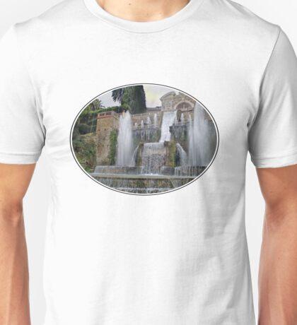 Raining up and down in Villa d'Este Unisex T-Shirt