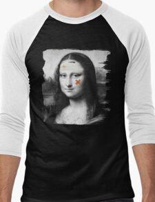 Restored Mona Lisa   Men's Baseball ¾ T-Shirt