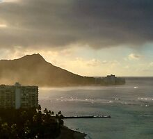 Diamond Head in the Mist by Marielle Valenzuela