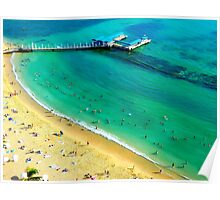 Honolulu Beach from Above Poster