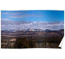 Snow Mountain Range Poster