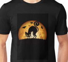 Black cat grumpy Unisex T-Shirt