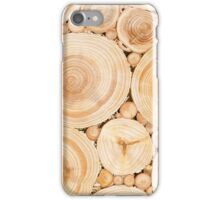 Wooden surface with annual rings iPhone Case/Skin