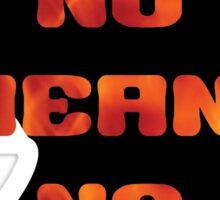 No Means No - Anti-Rape Sticker