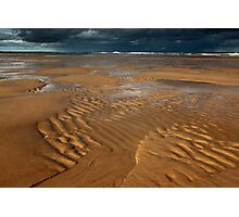 ripples, balmedie beach Photographic Print