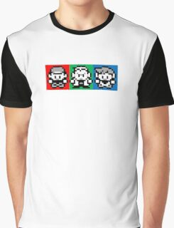 Pokemon Beginnings - Ash, Oak, Gary Red Blue Yellow Graphic T-Shirt