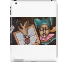 The Joker Posed as The Blue Moon but Ended up as The Fool iPad Case/Skin