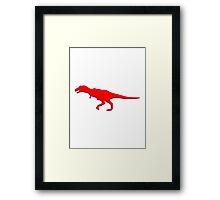 Dinosaur T-Rex Tyrannosaurus Rex button Framed Print