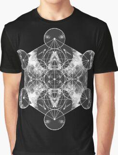 Metatron's Cube silver Graphic T-Shirt