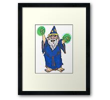 Dirty Wizard Framed Print