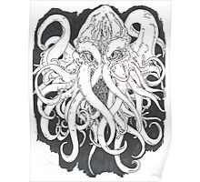 Octopus B&W Poster