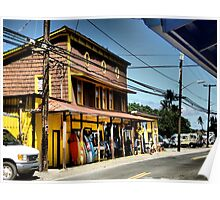Haleiwa town, Oahu's North Shore Poster