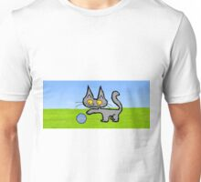 Kitten Plays OutSide Unisex T-Shirt