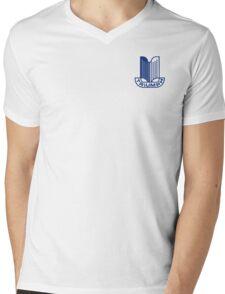 Blue Triumph Logo Mens V-Neck T-Shirt