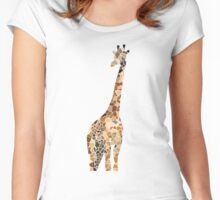Mosaic Giraffe  Women's Fitted Scoop T-Shirt