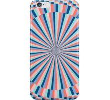 rays in blue and rose iPhone Case/Skin