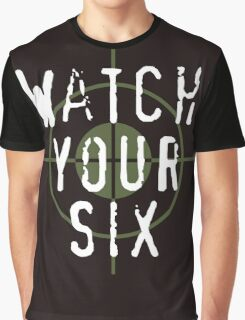 """Watch Your Six"" Military, 6, Back, Brown, Army, Green, Sniper, Sight Graphic T-Shirt"