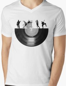 Vinyl music art Mens V-Neck T-Shirt