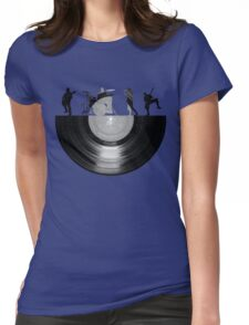Vinyl music art Womens Fitted T-Shirt
