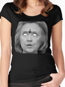 Hillary Clinton 666 Merch Women's Fitted Scoop T-Shirt