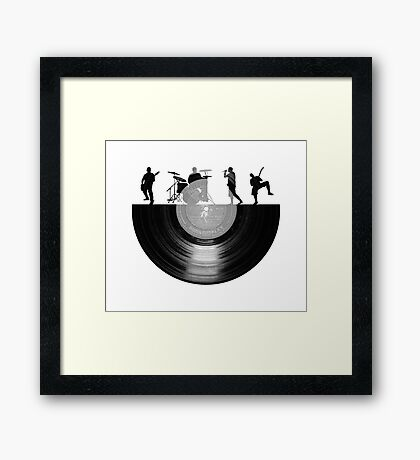 Vinyl music art Framed Print