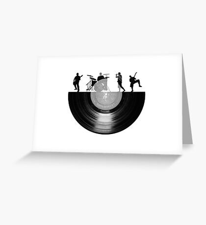 Vinyl music art Greeting Card