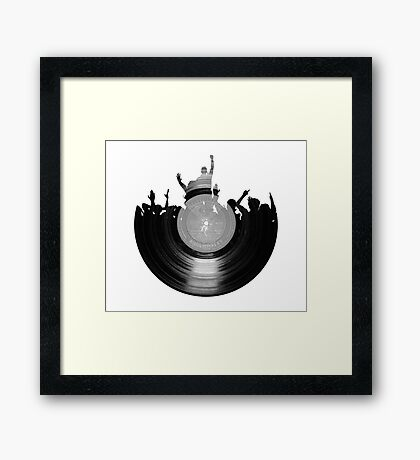 Vinyl music art 2 Framed Print