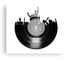 Vinyl music art 2 Canvas Print