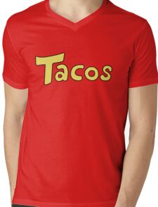 DBZ- Krillin's 'Tacos' Shirt. Mens V-Neck T-Shirt