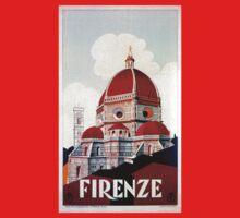 Florence Firenze 1920s Italian travel ad, duomo Kids Tee