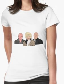 Peggy and her boys.  Womens Fitted T-Shirt